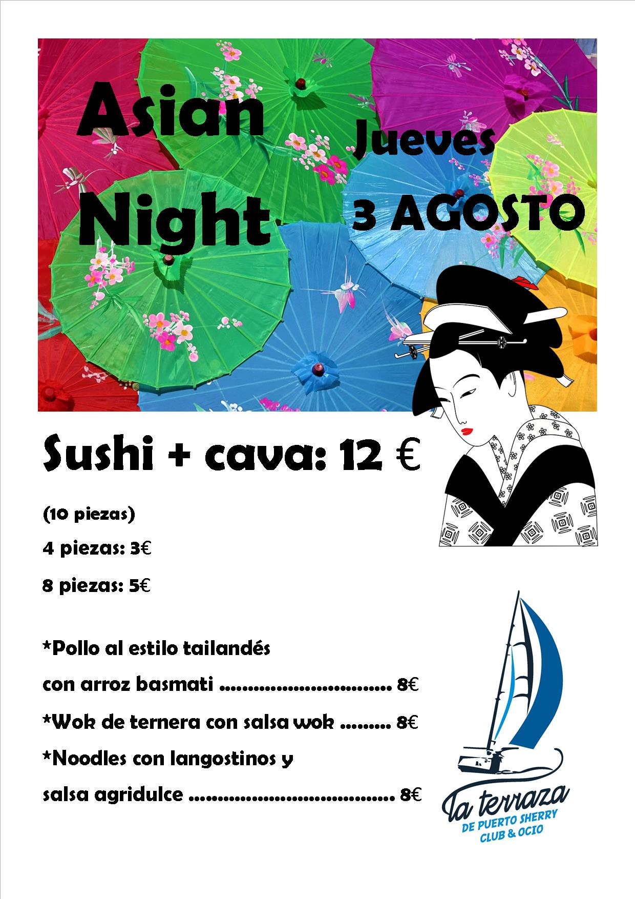 Asian Night (con carta para rrss)