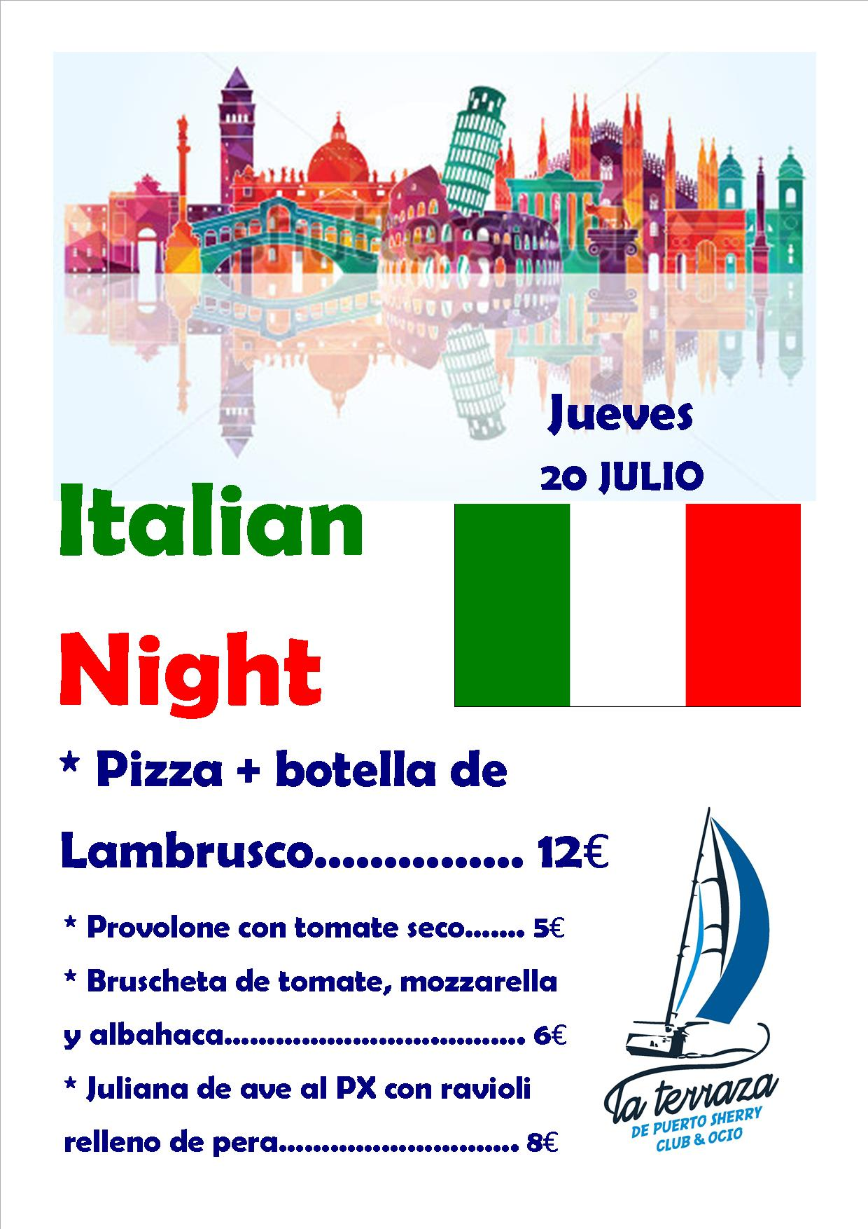 Italian Night (con carta para rrss)